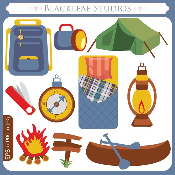 Camping clipart camping theme. Supplies