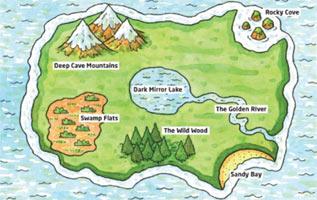 Multimedia powerpoint adventures simon. Adventure clipart adventure map