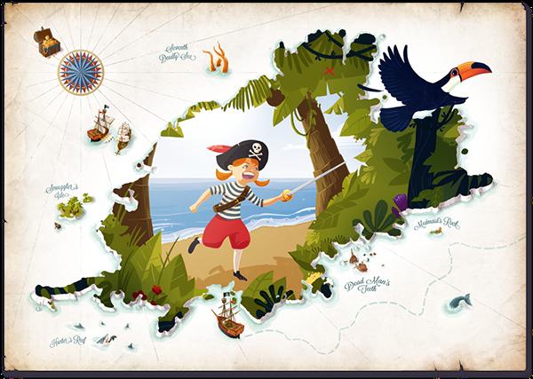 Pirate on behance . Adventure clipart adventure map