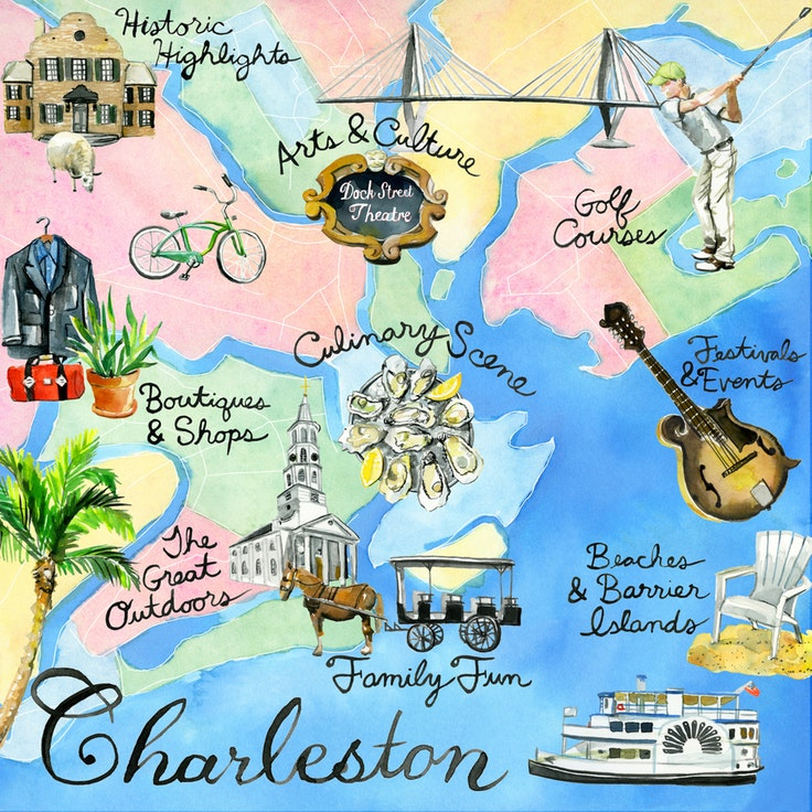 Adventure clipart adventure map. Choose your own charleston