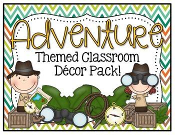 Themed classroom decor pack. Adventure clipart adventure theme