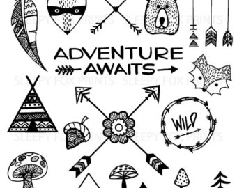 Adventure clipart black and white.  collection of woodland