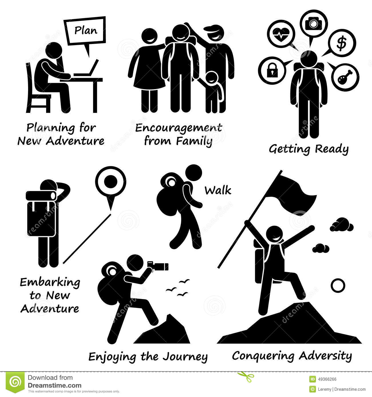 New . Adventure clipart black and white