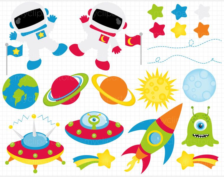 Planets clipart space party. Outer free border clip