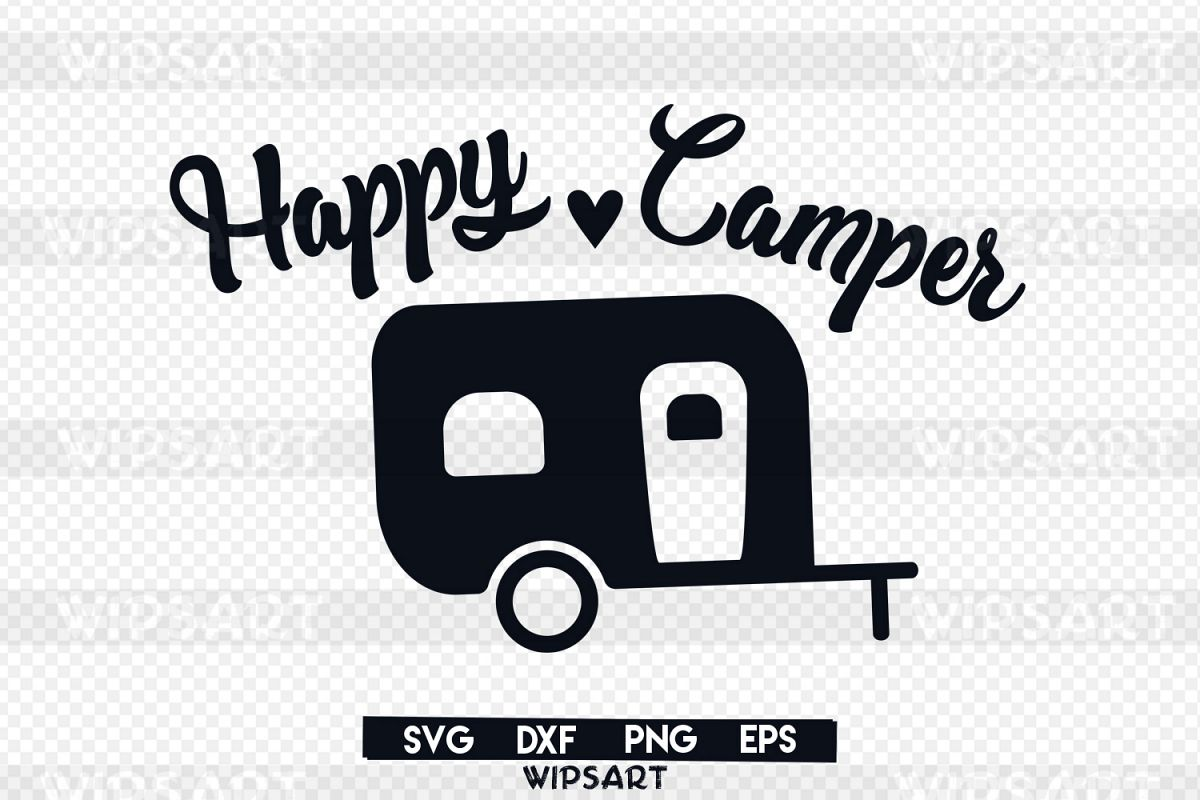 Camper clipart silhouette. Sale happy svg traveler