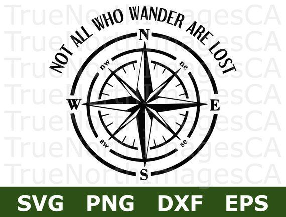 Compass clipart adventure. Svg not all who
