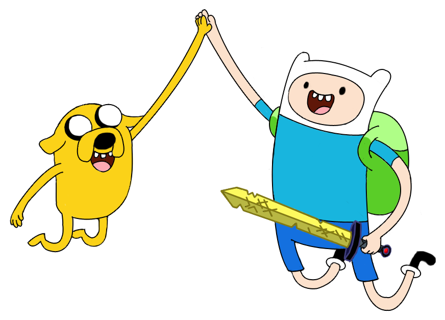 Nerd clipart jumping. Finn and jake by