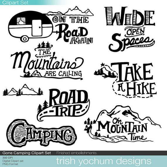 Mountain digital camping outdoor. Camper clipart hiker