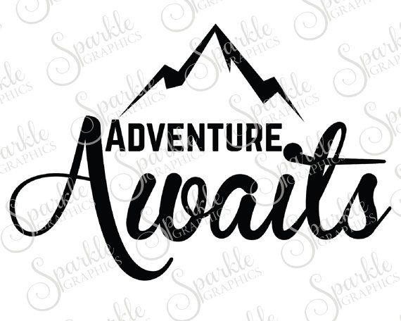 Adventure clipart line art. Awaits cut file wanderlust