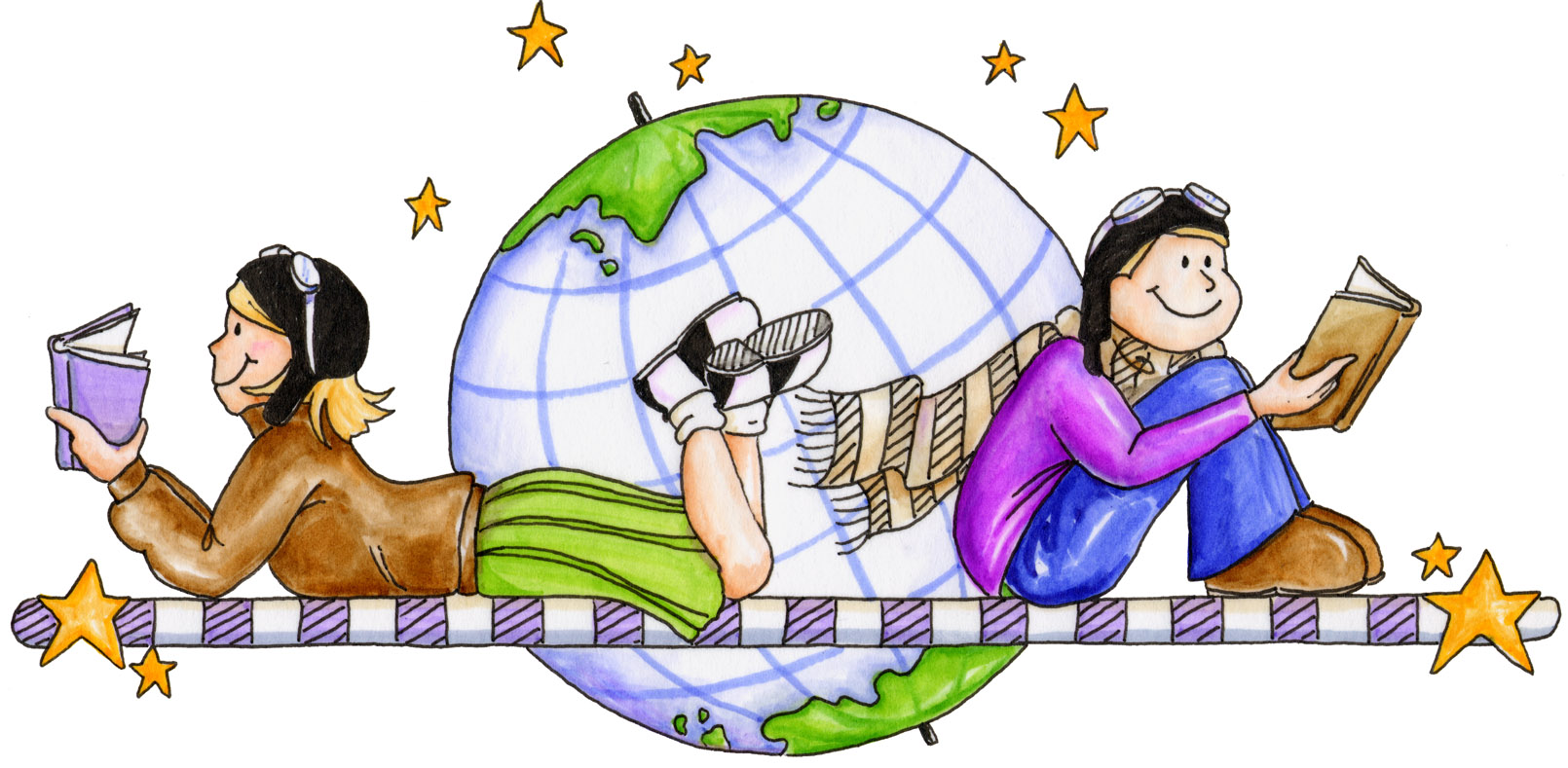 Study clipart teaching resources. Free reading world cliparts