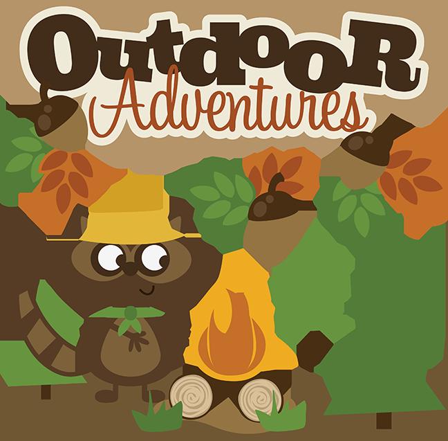Mountains clipart outdoors. Outdoor adventures svg scrapbook