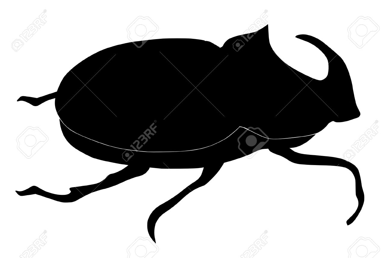 Beetle clipart silhouette. Camping clip art at
