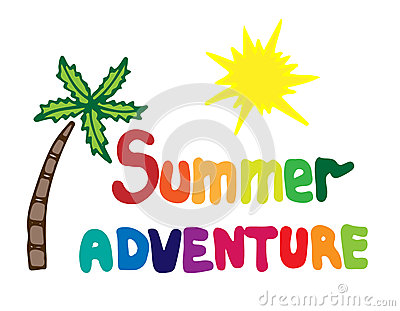 Summertime pencil and in. Adventure clipart summer