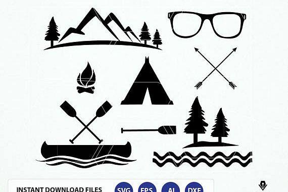 Vector graphics file design. Adventure clipart summer