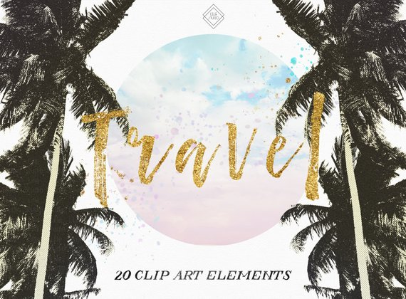 Travel wanderlust . Adventure clipart summer