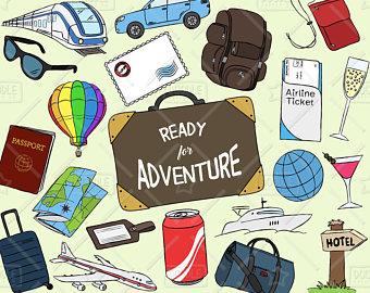 Doodle vector pack beach. Adventure clipart summer