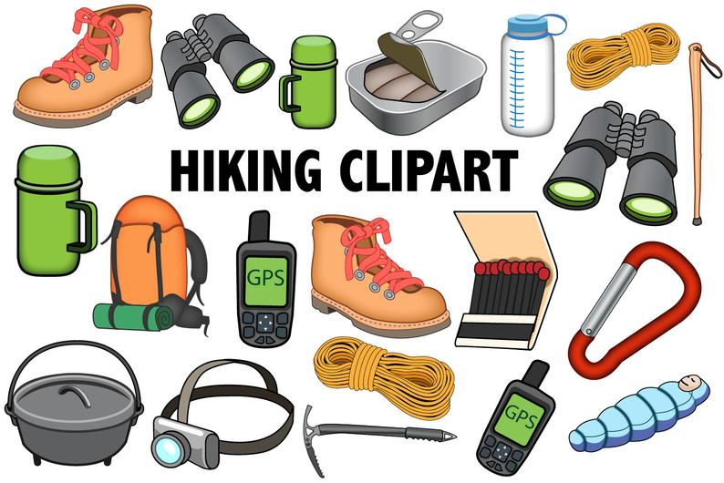 Hiking clipart wilderness survival. Outdoors icons camping adventure