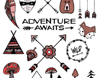 Wild woodland wildernessarrows feather. Arrows clipart adventure