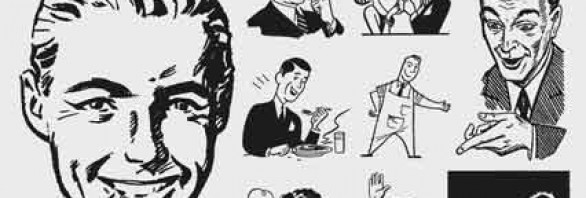 s people. Advertising clipart 50's
