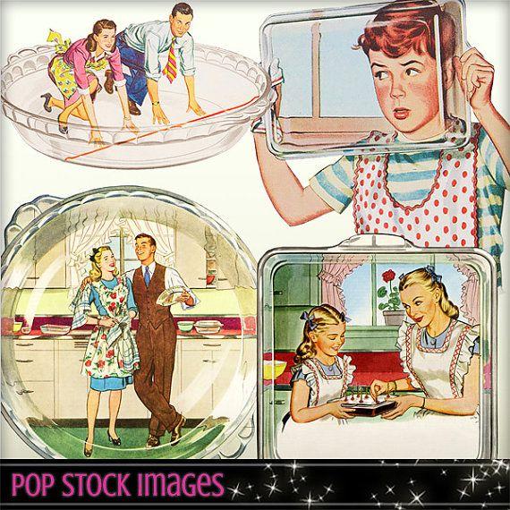 Mid century elements retro. Advertising clipart 50's