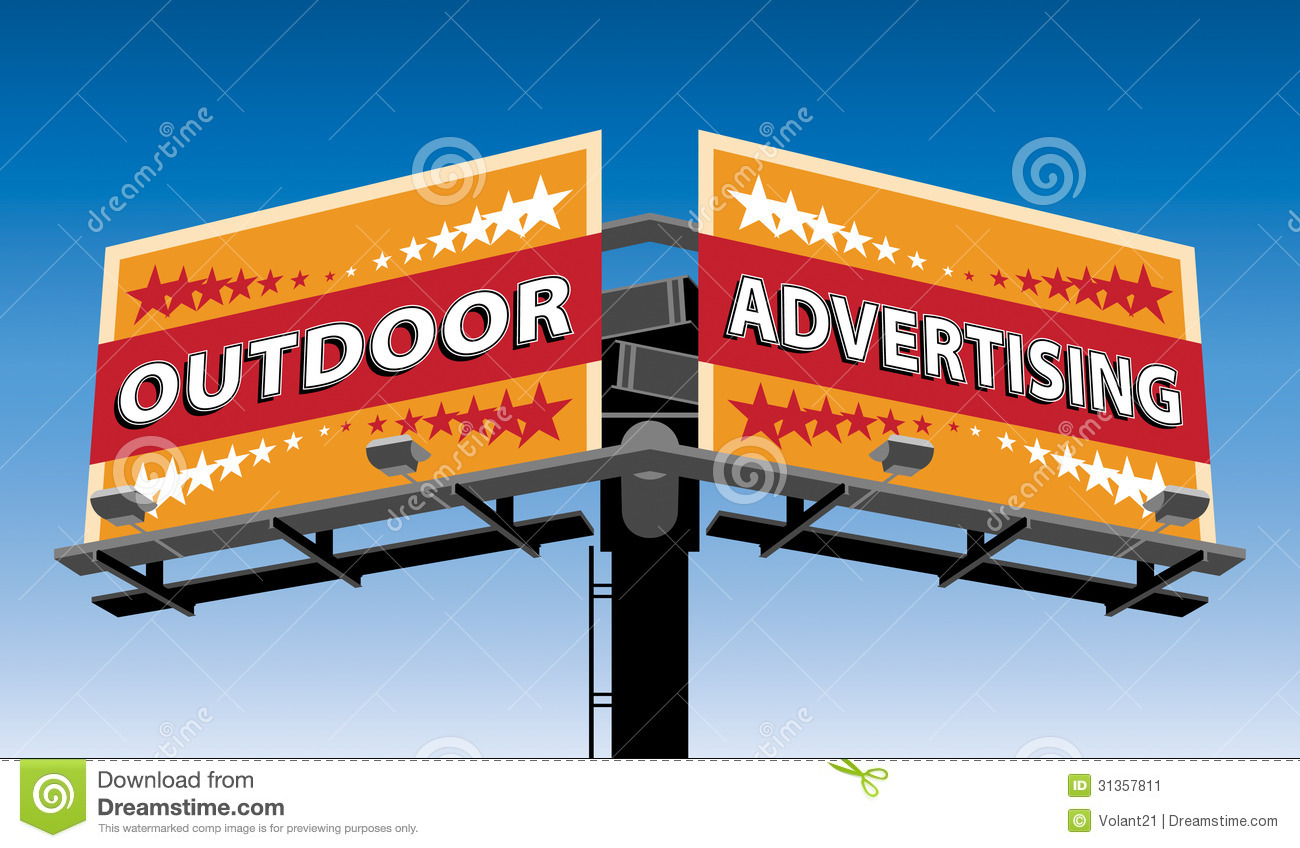 Advertising clipart advertisment. Outdoor advertisement a double