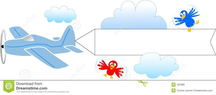 best cartoon airplanes. Banners clipart sky
