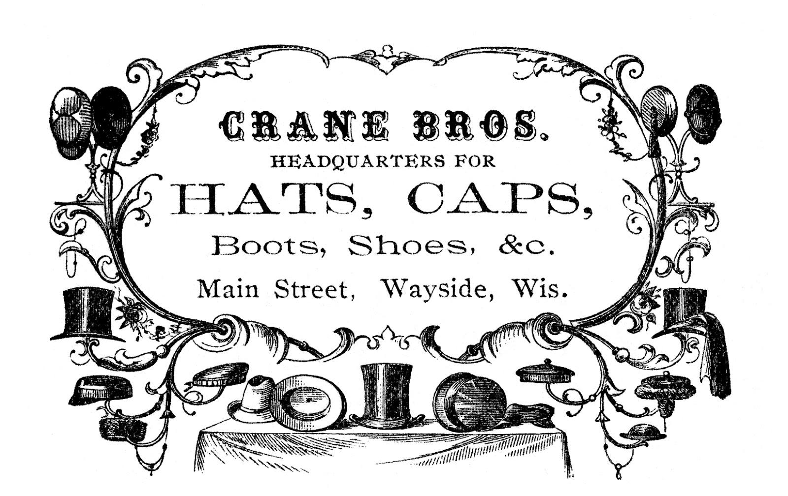 Vintage advertising clip art. Label clipart victorian