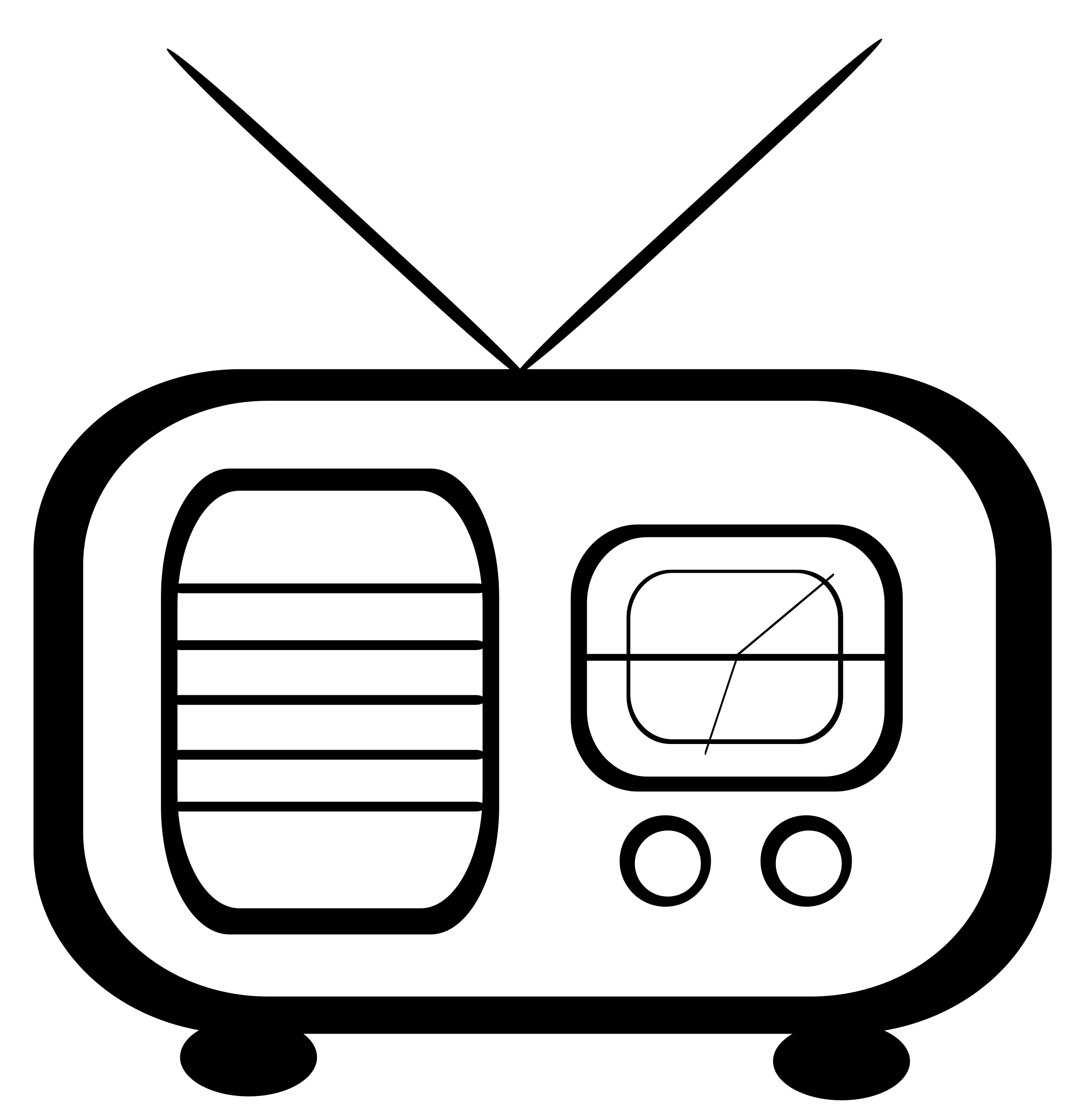Advertise on am radio. Clipart tv drawing