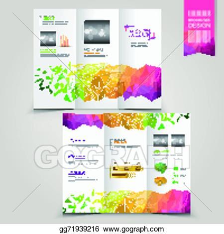 Advertising clipart brochure. Vector illustration modern template