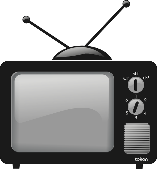 Image of advertising television. Clipart tv advertiser