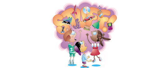 Effects of on children. Advertising clipart consumer product