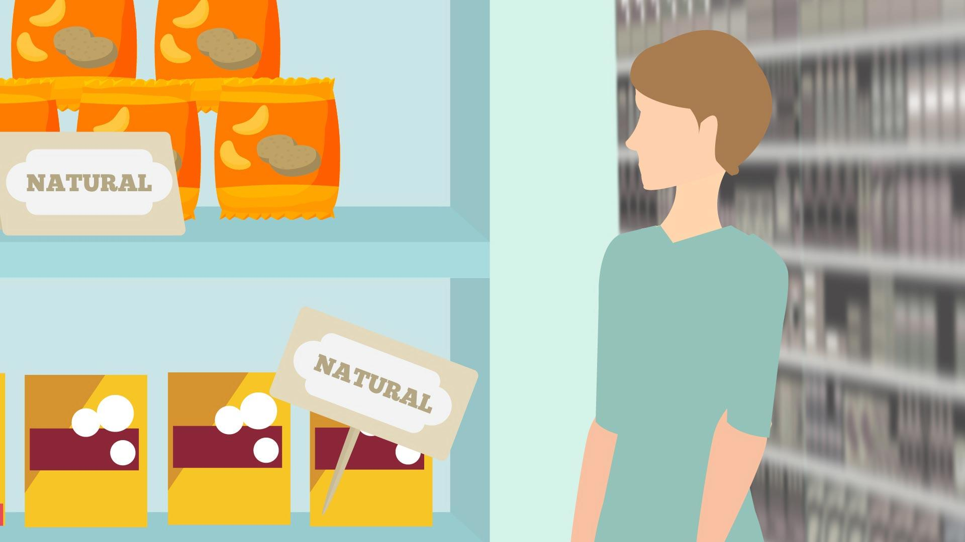 Peeling back the natural. Advertising clipart consumer product