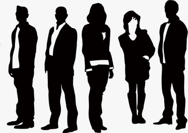 Corporate silhouette figures black. Advertising clipart free enterprise
