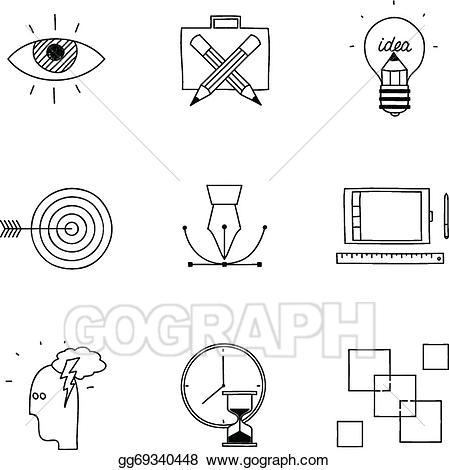 Advertising clipart internet. Vector hand drawn doodle