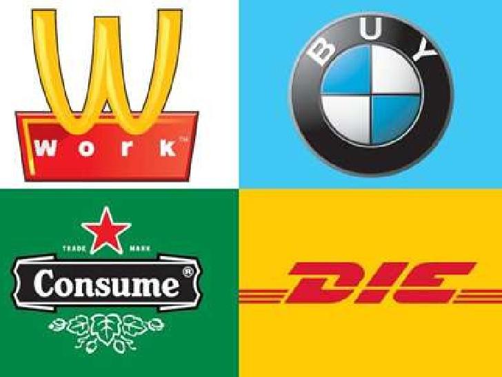 Subverting ignite . Advertising clipart materialism