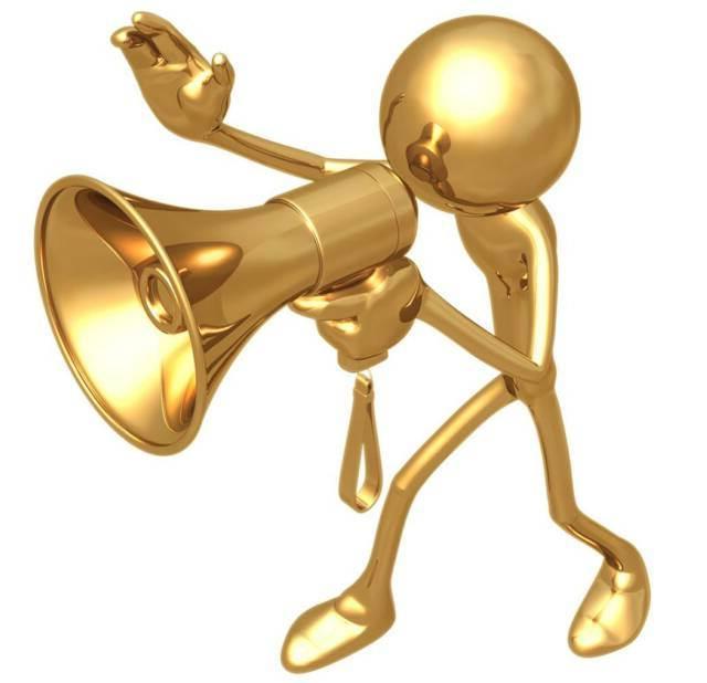 Announcement jpnd. Advertising clipart megaphone