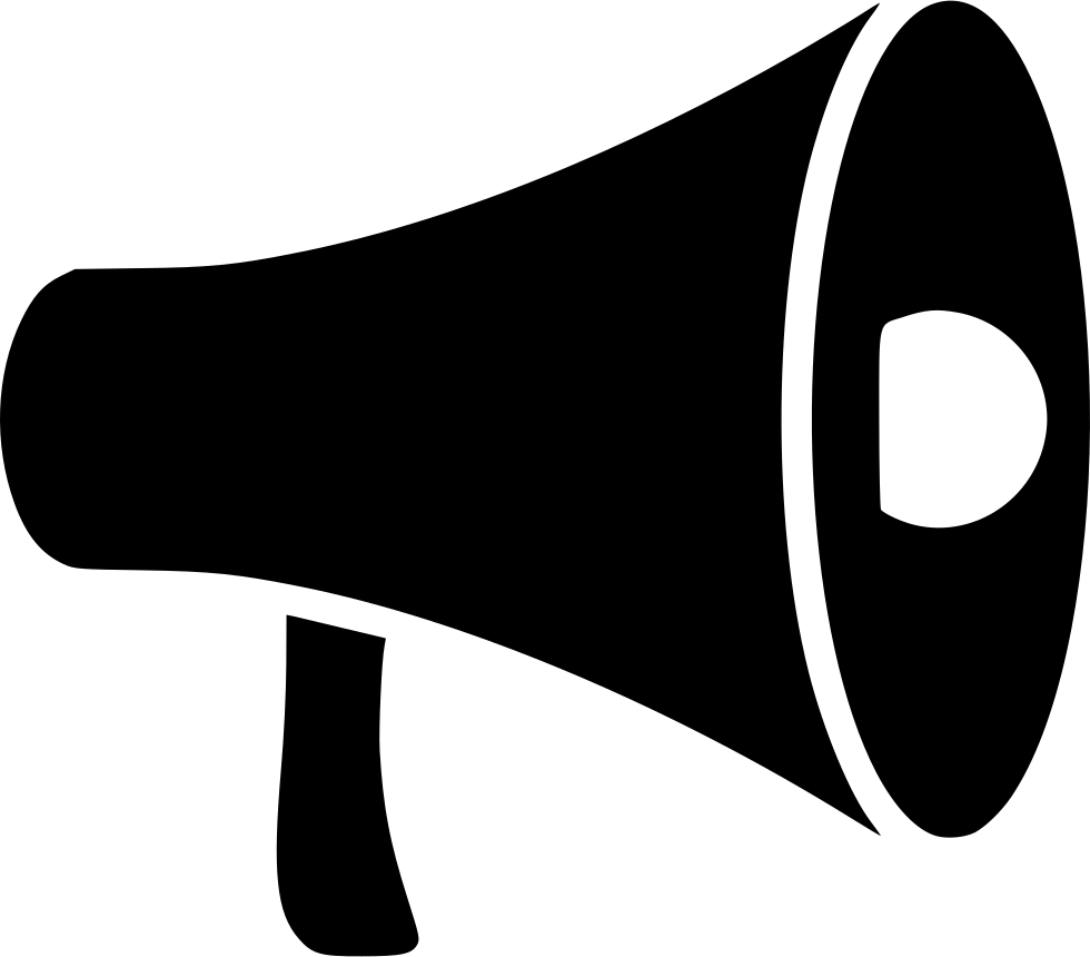 Promote svg png icon. Advertising clipart megaphone