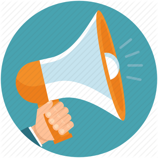 Business round icons by. Advertising clipart megaphone