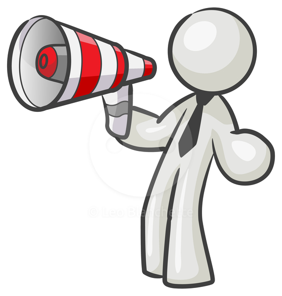 Announcements clipart publicity. Megaphone advertising panda free