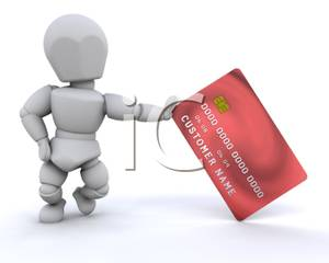 Advertising clipart person. A credit card royalty