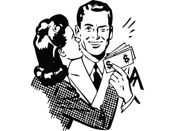 Retro people man male. Advertising clipart person