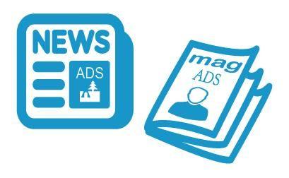 In the present era. Advertising clipart print media