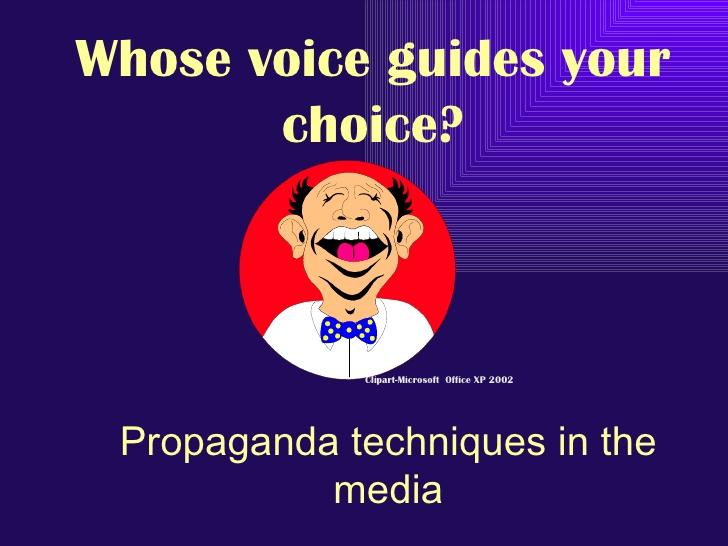 Techniques in the media. Advertising clipart propaganda