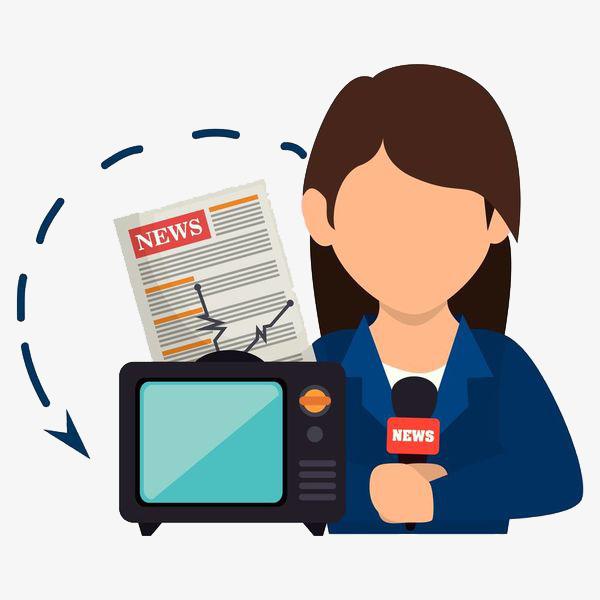 Advertising clipart propaganda. Reporting news cartoon hand