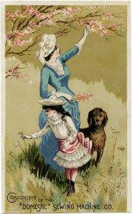 Victorian trade card vintage. Advertising clipart propaganda