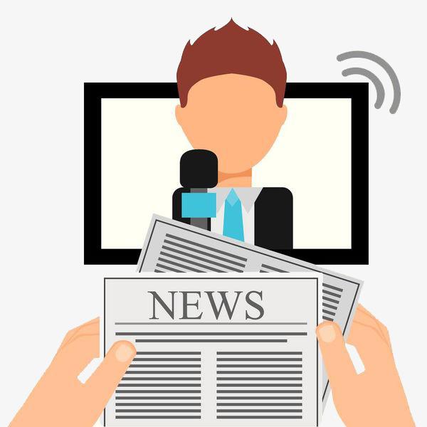 Media interview cartoon hand. Advertising clipart propaganda