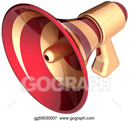 Announcement clipart attention. Stock illustration megaphone sale