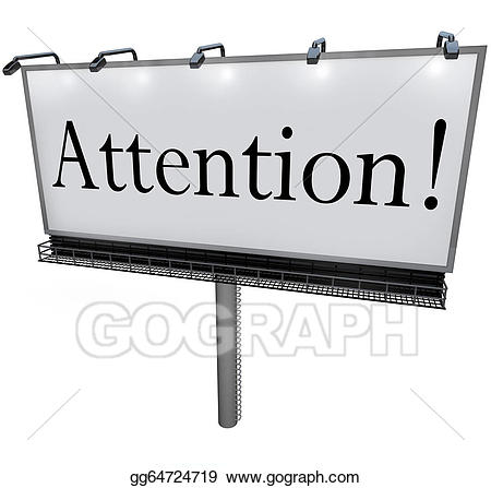 Stock illustrations word on. Announcement clipart attention