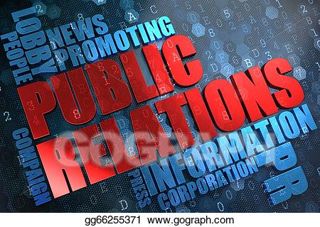 Advertising clipart public relation. Relations wordcloud concept stock