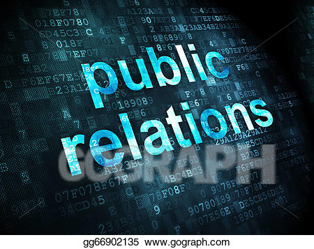 Concept relations on digital. Advertising clipart public relation